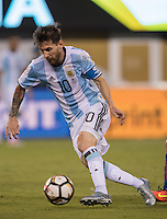 Action photo during the match Argentina vs Chile, Corresponding to Great Final of the America Centenary Cup 2016 at Metlife Stadium, East Rutherford, New Jersey.<br /> <br /> <br /> Foto de accion durante el partido Argentina vs Chile, correspondiente a la Gran Final de la Copa America Centenario 2016 en el  Metlife Stadium, East Rutherford, Nueva Jersey, en la foto: Lionel Messi de Argentina<br /> <br /> <br /> 26/06/2016/MEXSPORT/David Leah.