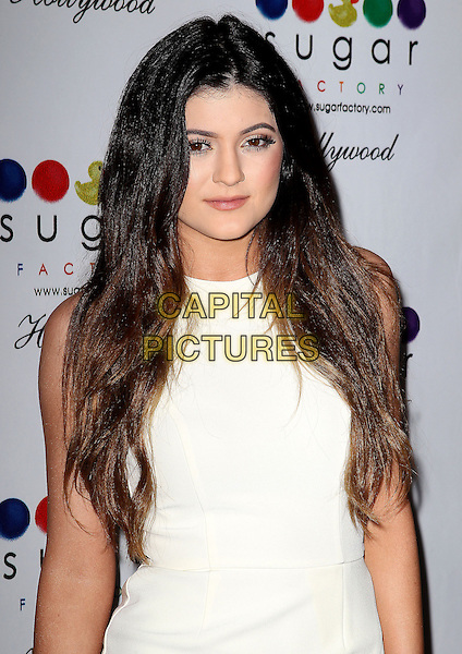 13 November 2013 - Hollywood, California - Kylie Jenner. Sugar Factory Hollywood Grand Opening held at the Sugar Factory Store. <br /> CAP/ADM/KB<br /> &copy;Kevan Brooks/AdMedia/Capital Pictures