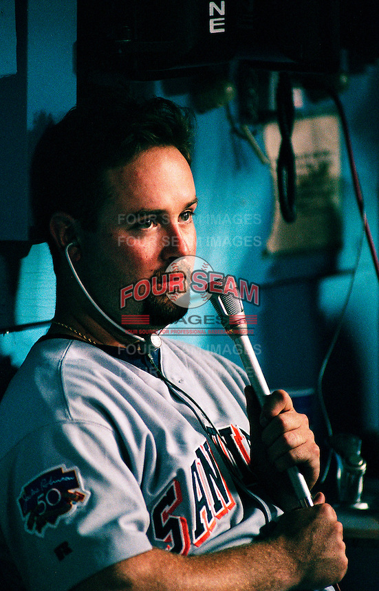 Joey Hamilton of the San Diego Padres during a game at Dodger Stadium in Los Angeles, California during the 1997 season.(Larry Goren/Four Seam Images)
