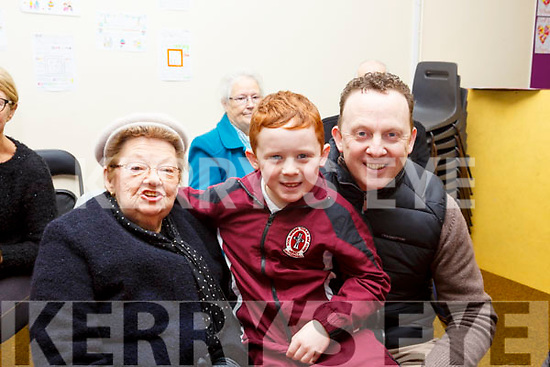 Attending the Moyderwell Grandparents day on Thursday morning last. L-r, Maureen, Cathal and Brian Carr.