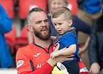St Johnstone v Ross County&hellip;12.05.18&hellip;  McDiarmid Park    SPFL<br />Alan Mannus and son Mason<br />Picture by Graeme Hart. <br />Copyright Perthshire Picture Agency<br />Tel: 01738 623350  Mobile: 07990 594431