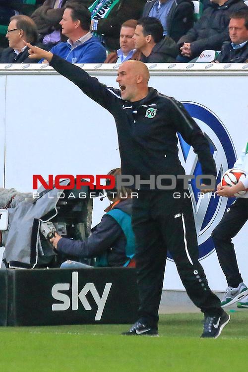 02.052015 Volkswagen Arena, Wolfsburg, GER, 1.FBL, VfL Wolfsburg vs Hannover 96, im Bild <br /> <br /> Trainer Michael Frontzeck <br /> <br /> Foto &copy; nordphoto / Rust
