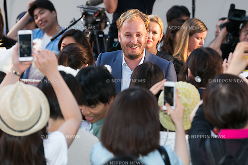 Director James Bobin greets the audience during the Japan premiere for the film Alice Through the Looking Glass on June 21, 2016, Tokyo, Japan. Australian actress Mia Wasikowska wearing a elegant black dress was joined by producer Suzanne Todd and director James Bobin to promote their sequel to Alice in Wonderland (2010) at Roppongi Hills Arena. The film hits Japanese theaters on July 1st. (Photo by Rodrigo Reyes Marin/AFLO)