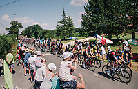 peloton drive-by<br /> <br /> Stage 2: Mouilleron-Saint-Germain &gt; La Roche-sur-Yon (183km)<br /> <br /> Le Grand D&eacute;part 2018<br /> 105th Tour de France 2018<br /> &copy;kramon