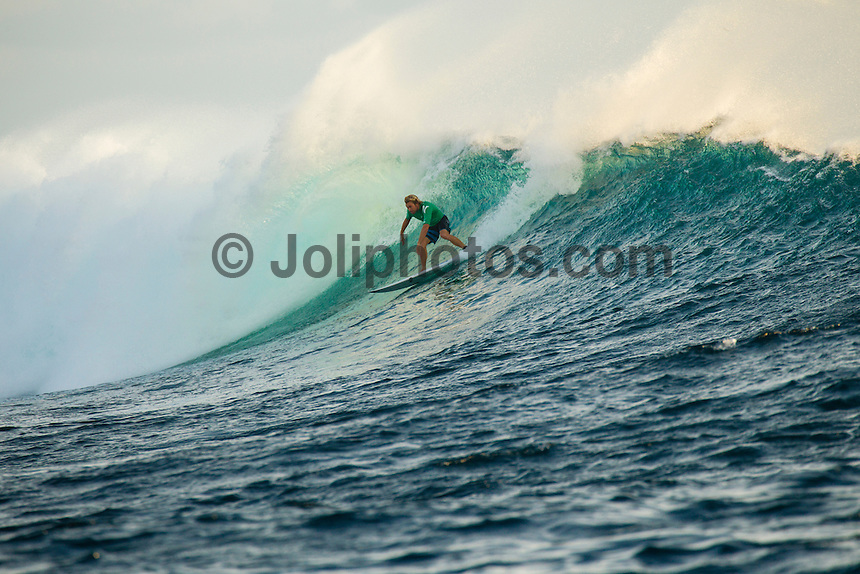 Namotu Island Resort, Fiji. (Friday, June 1, 2012) -  Adrian Buchan (AUS) at Cloudbreak.  The wind had dropped this morning and the swell too. Cloudbreak and Lefts were the two spots today.  . Photo: joliphotos.com
