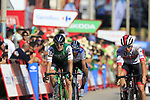 The chasers sprint for the finish line at the end of Stage 2 of La Vuelta 2019 running 199.6km from Benidorm to Calpe, Spain. 25th August 2019.<br /> Picture: Eoin Clarke | Cyclefile<br /> <br /> All photos usage must carry mandatory copyright credit (© Cyclefile | Eoin Clarke)