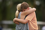 HOWEY IN THE HILLS, FL - MAY 19: Josh Gibson of Hope College and his mom celebrate during the Division III Men's Golf Championship held at the Mission Inn Resort and Club on May 19, 2017 in Howey In The Hills, Florida. (Photo by Cy Cyr/NCAA Photos via Getty Images)