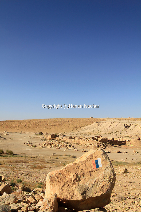 Israel, Negev, Israel Trail at Tamar stronghold