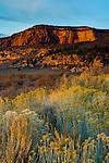 Sunset light ob red rock buttes on the Kolob Terrace, Zion National Park, Utah