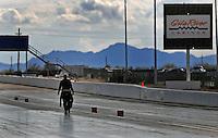 Jan 24, 2009; Chandler, AZ, USA; NHRA funny car driver Jim Head during testing at the National Time Trials at Firebird International Raceway. Mandatory Credit: Mark J. Rebilas-