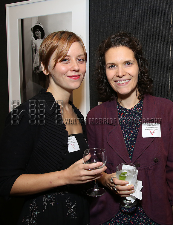 Kate Tarker and Erika Sheffer attends the Vineyard Theatre's Annual Emerging Artists Luncheon at The National Arts Club on June 6, 2017 in New York City.