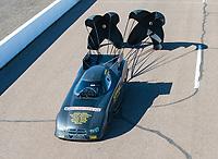 Feb 23, 2019; Chandler, AZ, USA; NHRA funny car driver Phil Burkhart during qualifying for the Arizona Nationals at Wild Horse Pass Motorsports Park. Mandatory Credit: Mark J. Rebilas-USA TODAY Sports