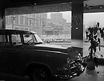 Pittsburgh PA:  View of Sanford Motors showroom in the East Liberty section of Pittsburgh - 1956.