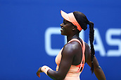 9th September 2017, FLushing Meadows, New York, USA;  SLOANE STEPHENS (USA) during the women's finals match of the 2017 US Open tennis tournament  at Billie Jean King National Tennis Center in Flushing Meadow, NY.