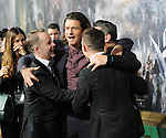 Billy Boyd, Orlando Bloom and Elijah Wood arriving at the Los Angeles premiere of The Hobbit The Battle Of The Five Armies, held at the Dolby Theater on December 9, 2014.