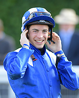 Jockey James Doyle during Racing at Salisbury Racecourse on 5th September 2019