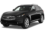 Front three quarter view of a 2009 Infiniti FX50.