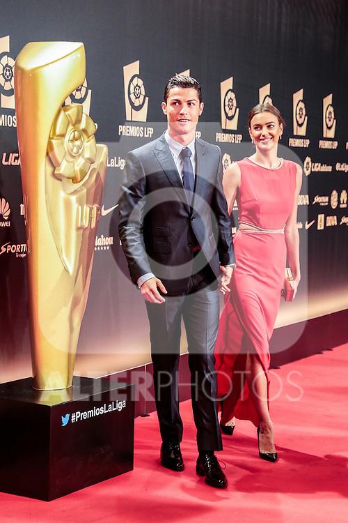 Cristiano Ronaldo and Irina Shayk during the red carpet of the Liga de Futbol Profesional Awards in Madrid. October 27, 2014. (ALTERPHOTOS/Jose Luis Frias)