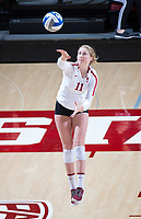 STANFORD, CA - December 1, 2018: Kate Formico at Maples Pavilion. The Stanford Cardinal defeated Loyola Marymount 25-20, 25-15, 25-17 in the second round of the NCAA tournament.