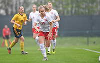 20190409 - TUBIZE , Belgium : Polish Jessica Pluta pictured during a women soccer game between the under 19 teams of Belgium and Poland. This is the Third and final game in their elite round qualification for the European Championship in Schotland 2019. The Belgian national women's soccer team is called the Red Flames, on the 9 th of April in Tubize. PHOTO DAVID CATRY | Sportpix.be