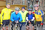 Alan Jones Killarney, Myles O'Brien Caragh Lake, John Houlihan glenbeigh, James O'Shea and Michael Corkery Killorglin who participated in the Cycle for Crumlin Childrens Hospital in Killorglin on Sunday