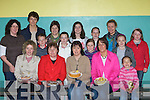Selling cakes at the Gneeveguilla NS cake sale in Gneeveguilla Community Centre on Sunday was front row l-r: Maureen Dalton, Margaret Brosnan, Martina O'Sullivan, Evelyn Gleeson, Hanora Hickey. Back row: Siobhain Collins, Eithne Hurley, David Gleeson, Patricia Coughlan, Shonagh Gleeson, Aisling Collins, Joan Brosnan, Maura O'Connell, Norma Guerin, Laoise Coughlan and Aisling O'Brien