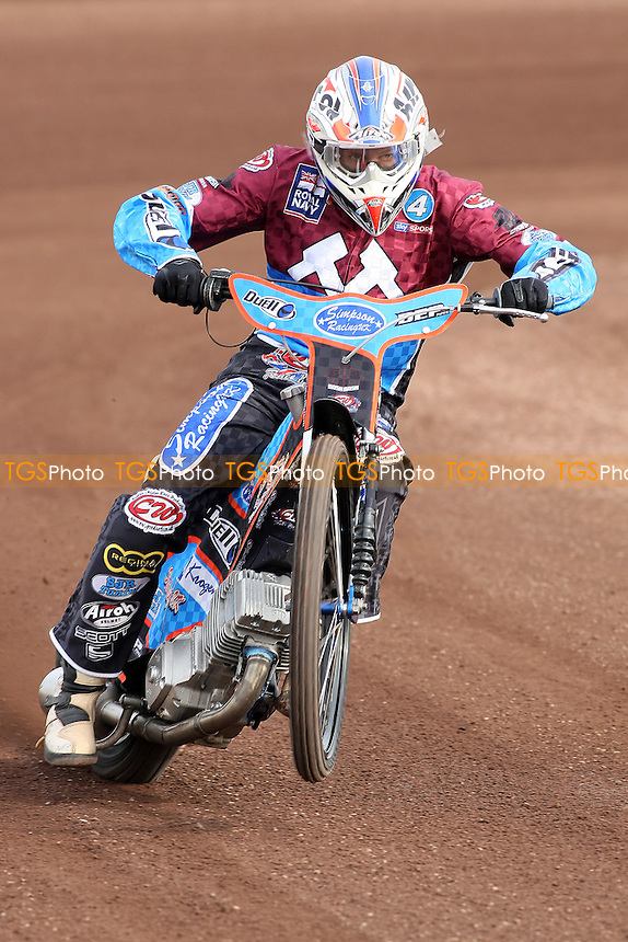 Kauko Nieminen of Lakeside Hammers - Lakeside Hammers Speedway Press & Practice at Arena Essex Raceway - 17/03/10 - MANDATORY CREDIT: Gavin Ellis/TGSPHOTO - Self billing applies where appropriate - Tel: 0845 094 6026