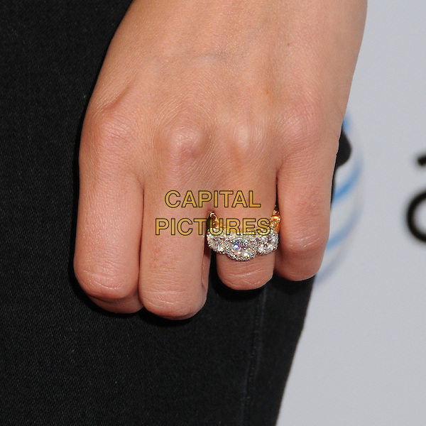 "Nikki Reed's hand.""Aim High"" Los Angeles Premiere held at Trousdale, West Hollywood, California, USA..October 18th, 2011.back hand diamond engagement wedding ring jewellery jewelry .CAP/ADM/BP.©Byron Purvis/AdMedia/Capital Pictures."