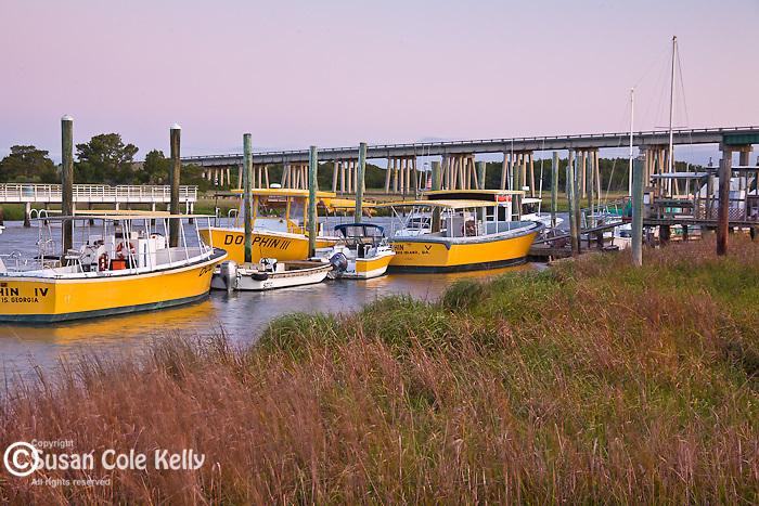 Shrimp boats on Lazaretto Creek, Tybee Island, SC