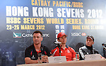 Team captains at a press conference held on 21st March 2012 at the Marco Polo Hotel Hong Kong ahead of the 2012 Cathay Pacific / HSBC Hong Kong Sevens. Photo by Victor Fraile / The Power of Sport Images