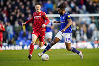 1st February 2020; St Andrews, Birmingham, Midlands, England; English Championship Football, Birmingham City versus Nottingham Forest; Jacques Maghoma of Birmingham City on a run and tries to shield the ball from Joe Lolley of Nottingham Forest