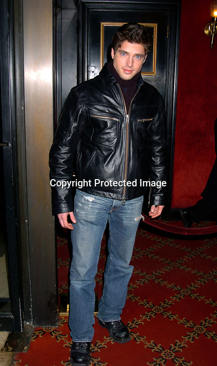 """Scott Bailey  of Guiding Light..at the World Premiere of """"Big Fish"""" on December 4, 2003 at the Ziegfeld Theatre in New York City.                               Photo by Robin Platzer, Twin Images"""