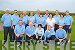 KERRY NINES: The member's of Castlegregory Golf Club who competed in the Kerry Nines golf tournament at the Castlegregory course on Sunday front l-r: Mike Burrows, Joe Mulchay (captain), Liz O'Carroll (lady captain), Tommy O'Halloran and Mike Keane. Back l-r: Eddie Hanafin, George Nash, Sandra Nynan, Sean O'Connor (vice captain), Edel Randles, Noel Earlie, Mari McCarthy, Kieran Shannon, Tina Moriarty, Martin Rice, Merlyn O'Connor and Pat Doody.