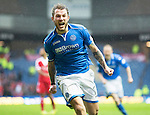 St Johnstone v Aberdeen...13.04.14    William Hill Scottish Cup Semi-Final, Ibrox<br /> Stevie May celebrates his first goal<br /> Picture by Graeme Hart.<br /> Copyright Perthshire Picture Agency<br /> Tel: 01738 623350  Mobile: 07990 594431