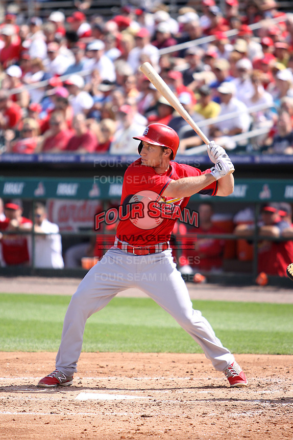 Ty Kelly (68) of the St. Louis Cardinals at bat during a spring training game against the Miami Marlins at the Roger Dean Complex in Jupiter, Florida on March 5, 2015. St. Louis defeated Miami 4-1. (Stacy Jo Grant/Four Seam Images)