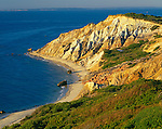 Martha's Vineyard, MA     <br /> Gay Head Cliffs - colorful sedimentary formations on the western tip of Martha's Vineyard <br /> above Vineyard Sound