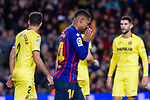 Malcom de Oliveira of FC Barcelona reacts during the La Liga 2018-19 match between FC Barcelona and Villarreal at Camp Nou on 02 December 2018 in Barcelona, Spain. Photo by Vicens Gimenez / Power Sport Images