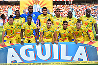 BARRANQUILLA- COLOMBIA, 24-03-2019:Formación del Atlético Huila ante el Atlético Junior durante partido por la fecha 11 de La Liga Aguila I 2019 ,jugado en el estadio Metropolitano Roberto Meléndez de la ciudad de Barranquilla / Team of Atlético Huila agsints of  Atletico Junior    during match for the date 11 as part Aguila League I 2019 between Atletico Junior and  Atletico Huila played at Metropolitano Roberto Melendez  stadium in Barranquilla city.  Photo: VizzorImage /Alfonso Cervantes / Contribuidor