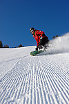 Kayla Anderson carving up the groomers at Mt. Rose Ski Tahoe...Photo by Scott Sady