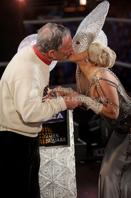 WWW.ACEPIXS.COM . . . . . .December 31, 2011...New York City.... Lady Gaga and Michael Bloomberg in Times Square on December 31, 2011 in New York City.....Please byline: KRISTIN CALLAHAN - ACEPIXS.COM.. . . . . . ..Ace Pictures, Inc: ..tel: (212) 243 8787 or (646) 769 0430..e-mail: info@acepixs.com..web: http://www.acepixs.com .