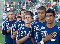 LA Galaxy and the Chicago Fire at the Home Depot Center in Carson, CA, on August 1, 2010. LA Galaxy 2, Chicago Fire 3.