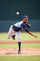 Tampa Bay Rays pitcher Jhonleider Salinas (64) during an Instructional League game against the Baltimore Orioles on September 19, 2016 at Ed Smith Stadium in Sarasota, Florida.  (Mike Janes/Four Seam Images)