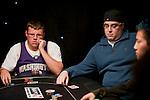 Matt Affleck, left, contemplates calling Jared Jaffee, at right.