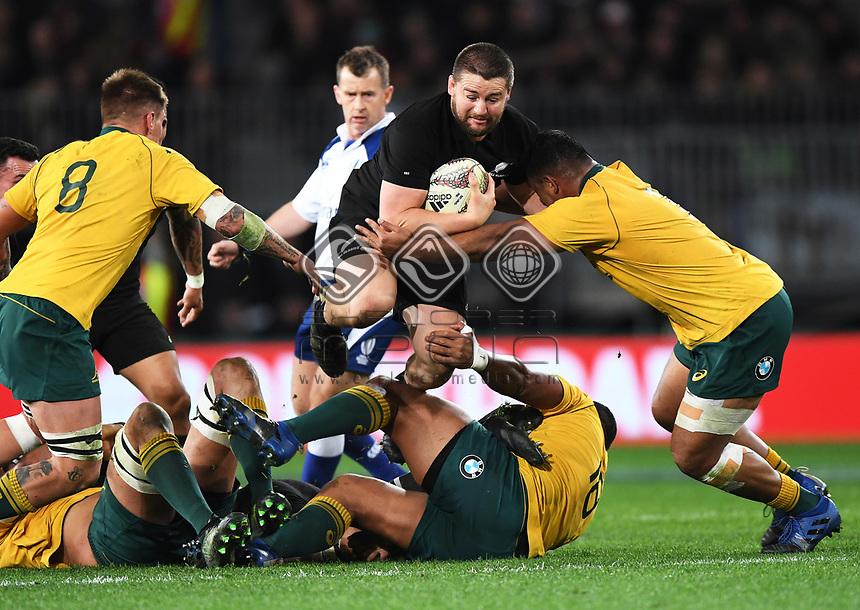 Dane Coles.<br /> Bledisloe Cup and Rugby Championship test match. New Zealand All Blacks v Australian Wallabies at Forsyth Barr Stadium, Dunedin, New Zealand. Saturday 26 August 2017. © Copyright photo: Andrew Cornaga / www.Photosport.nz