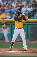Francisco Arcia (10) of the Salt Lake Bees bats against the New Orleans Baby Cakes at Smith's Ballpark on June 11, 2018 in Salt Lake City, Utah. New Orleans defeated Salt Lake 6-5.  (Stephen Smith/Four Seam Images)