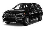 2018 BMW X1 xDrive28i 5 Door SUV angular front stock photos of front three quarter view