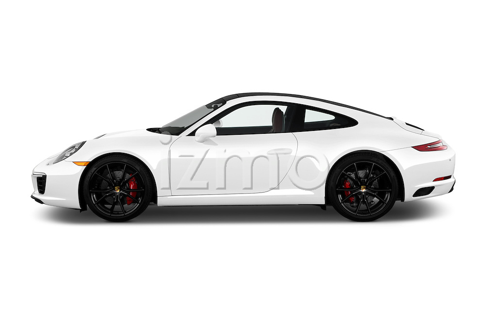 Car Driver side profile view of a 2017 Porsche 911 Carrera S 2 Door Coupe Side View