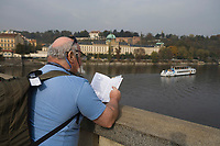 Europe/République Tchèque/Prague:Les bords de la Vltava au pont Legil