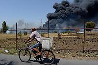 Incendio Via Salviati  a Roma