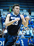 February 15, 2017:  Nevada guard, Charlie Tooley #23, looks for a pass during the NCAA basketball game between the University of Nevada Wolfpack and the Air Force Academy Falcons, Clune Arena, U.S. Air Force Academy, Colorado Springs, Colorado.  Nevada defeats Air Force 78-59.